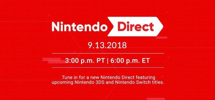Сентябрьский Nintendo Direct пройдет 14 сентября в час ночи.