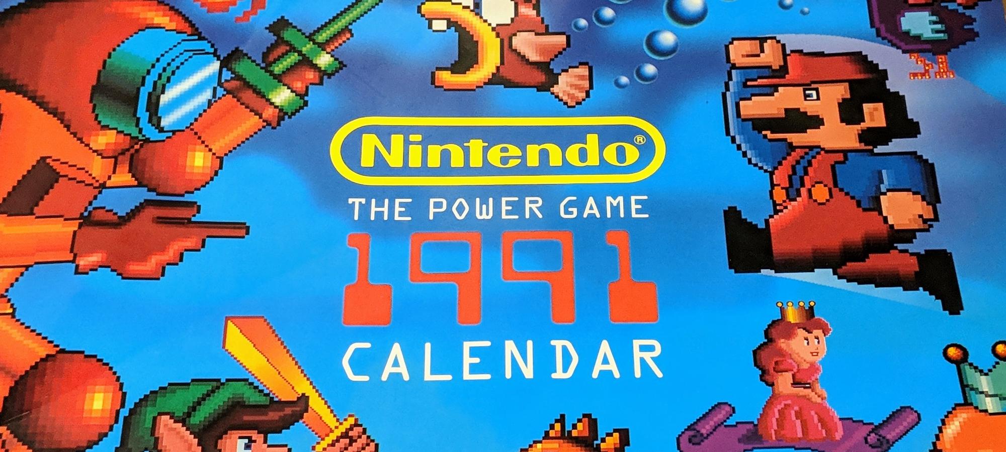 Nintendo календарь 1991